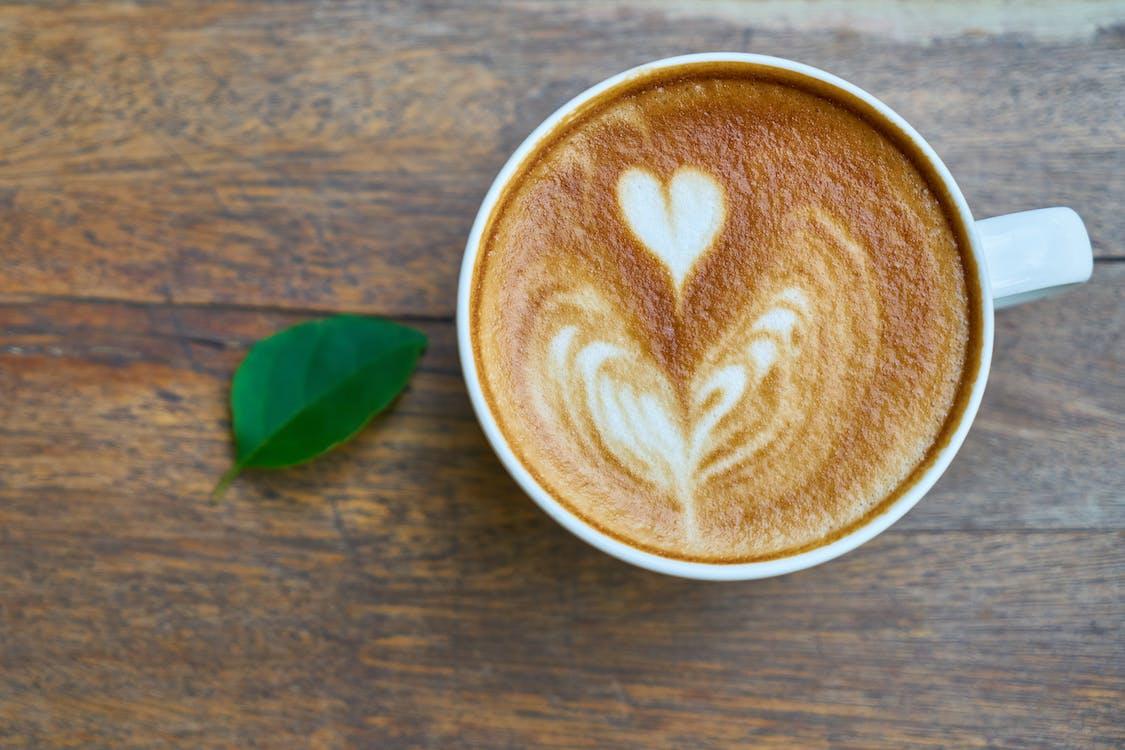 brun, cappuccino, drikke