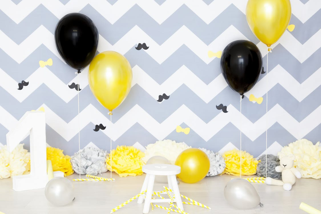 Yellow and Black Balloons
