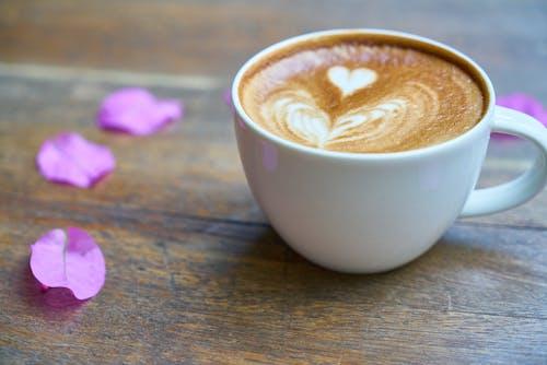 Coffee-filled White Ceramic Mug
