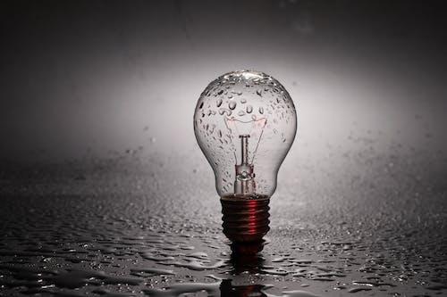 ガラスアイテム, バルブ, フィラメント, 水の無料の写真素材