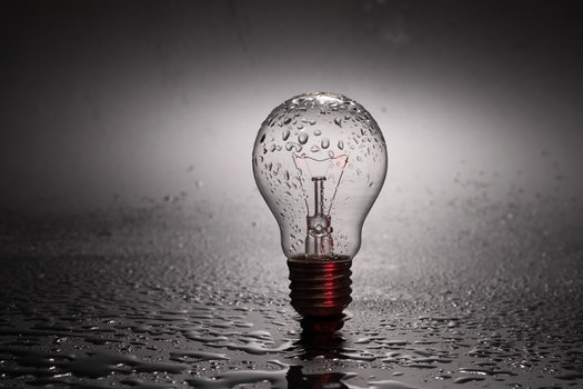 Free stock photo of water, light bulb, idea, bulb