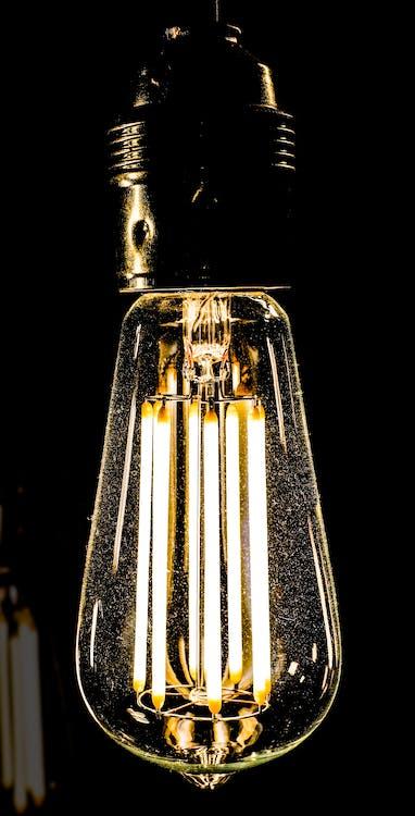 elektrické světlo, elektřina, lehký