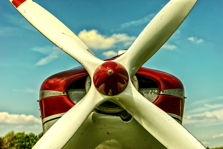 Gray Plane Propeller