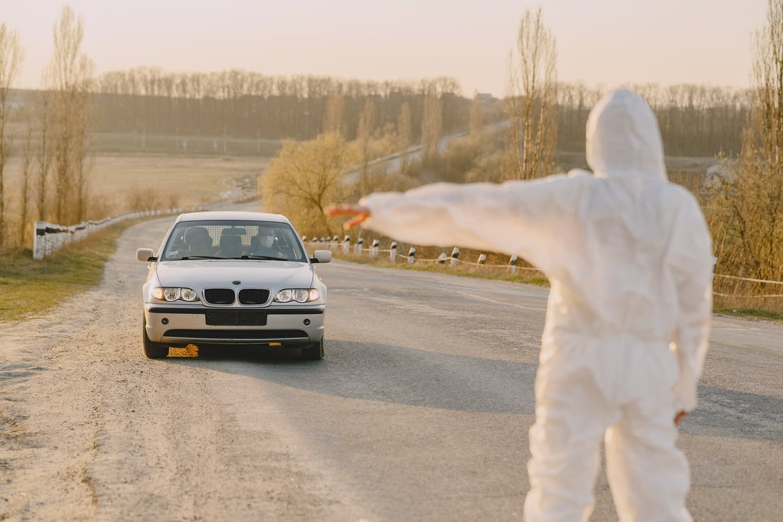 White Bmw on Road