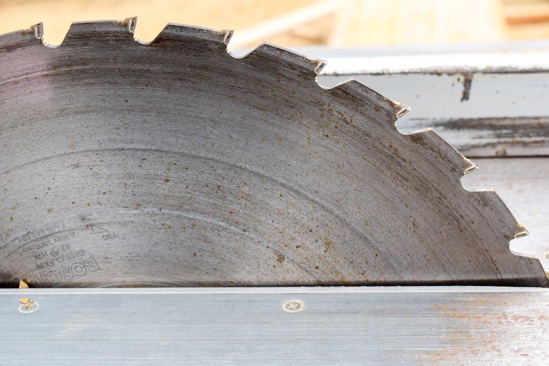 Gray Steel Cutting Blade