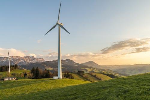 Бесплатное стоковое фото с Альтернативная энергия, ветрогенераторы, ветряные мельницы, пейзаж