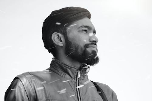 Free stock photo of beard, beard cut, brown jacket