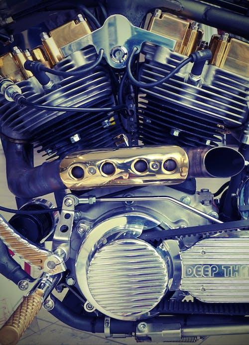 エンジニアリング, エンジン, クロム, マシンの無料の写真素材