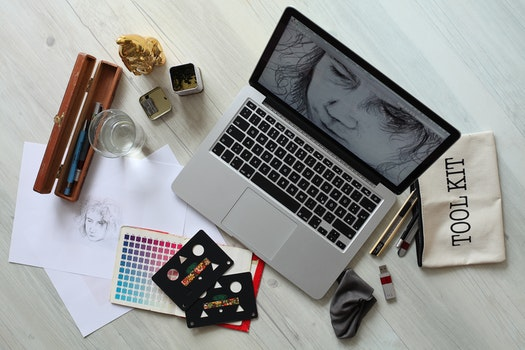 Free stock photo of creative, apple, desk, laptop