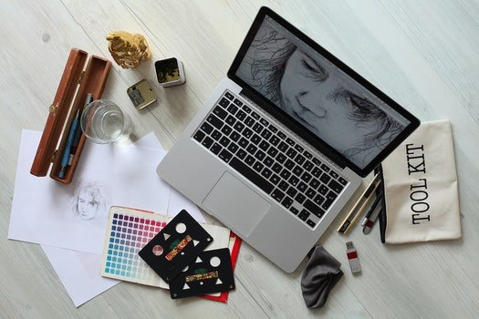 Free stock photo of creative, apple, desk, laptop