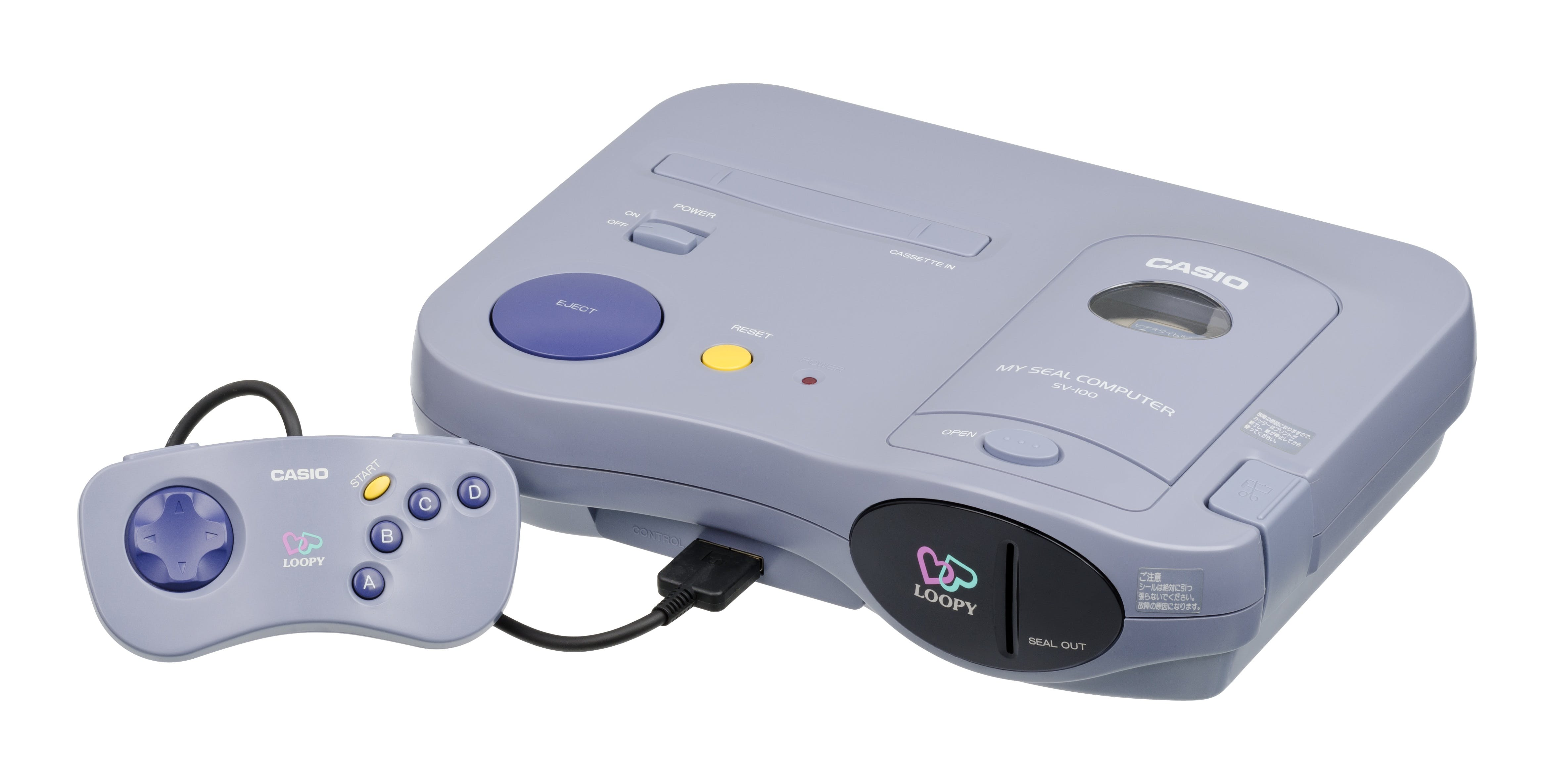 Gray Game Console With Controller