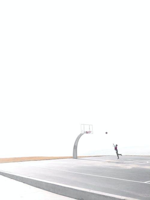 Free stock photo of basketball, basketball court, minimal
