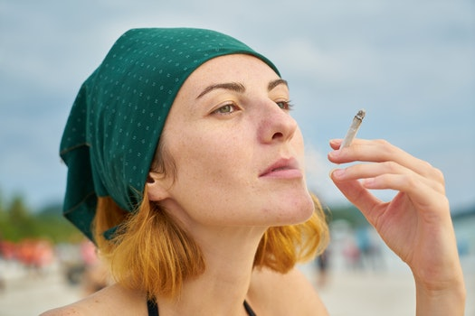 Free stock photo of beach, model, cigarette, young