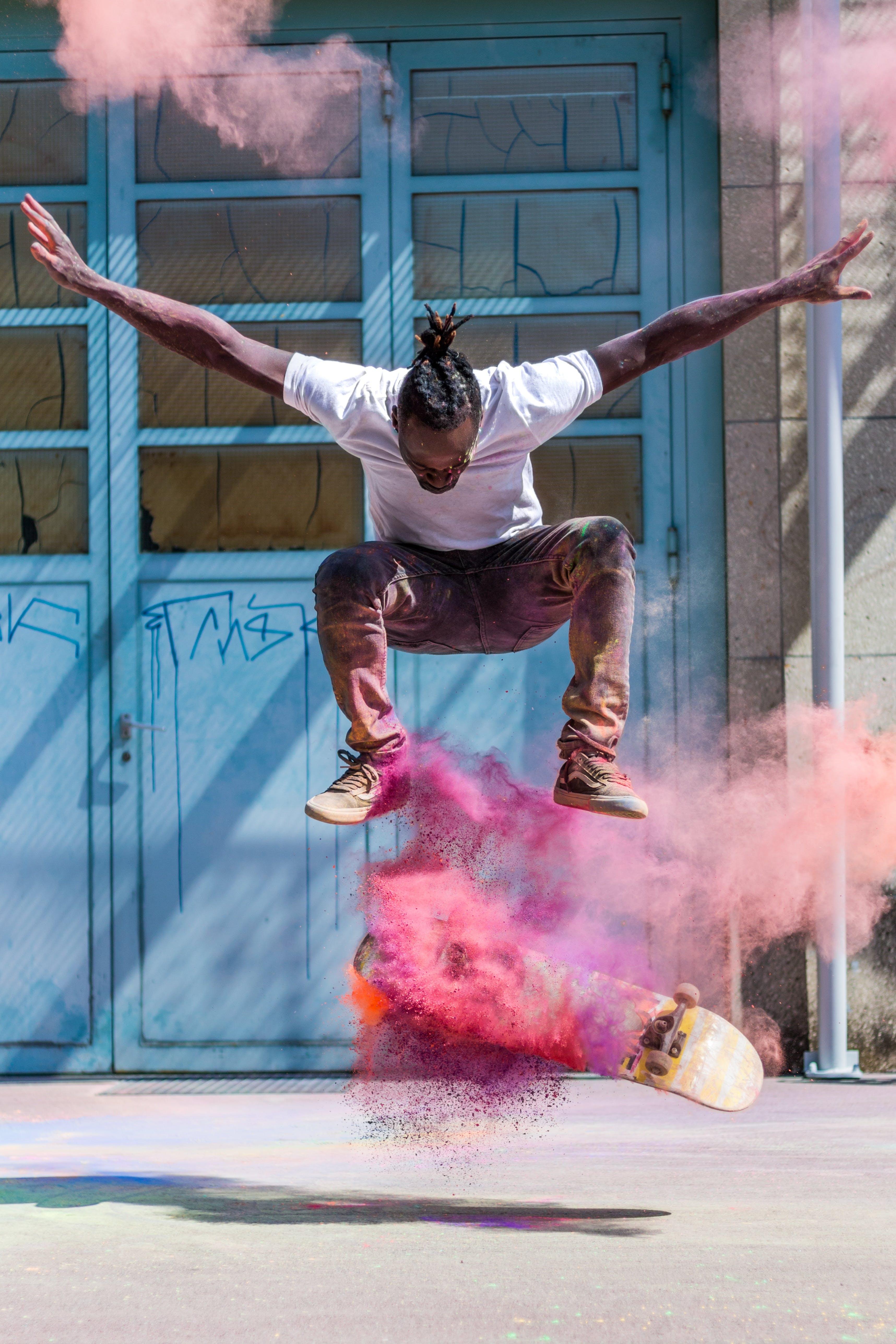 holi powder, 가루, 거리, 공연의 무료 스톡 사진