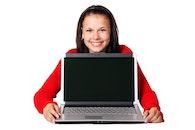 person, woman, laptop