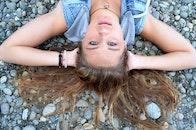 girl, rocks, model