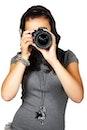 people, woman, camera