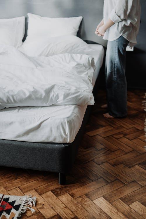 コットン, ベッド, ベッドリネン, リネンの無料の写真素材