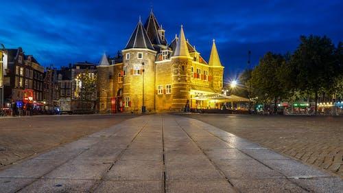 Kostenloses Stock Foto zu abend, amsterdam, architektur, bäume