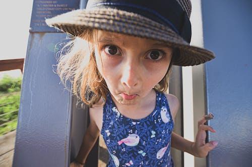 Free stock photo of big eyes, child, fun