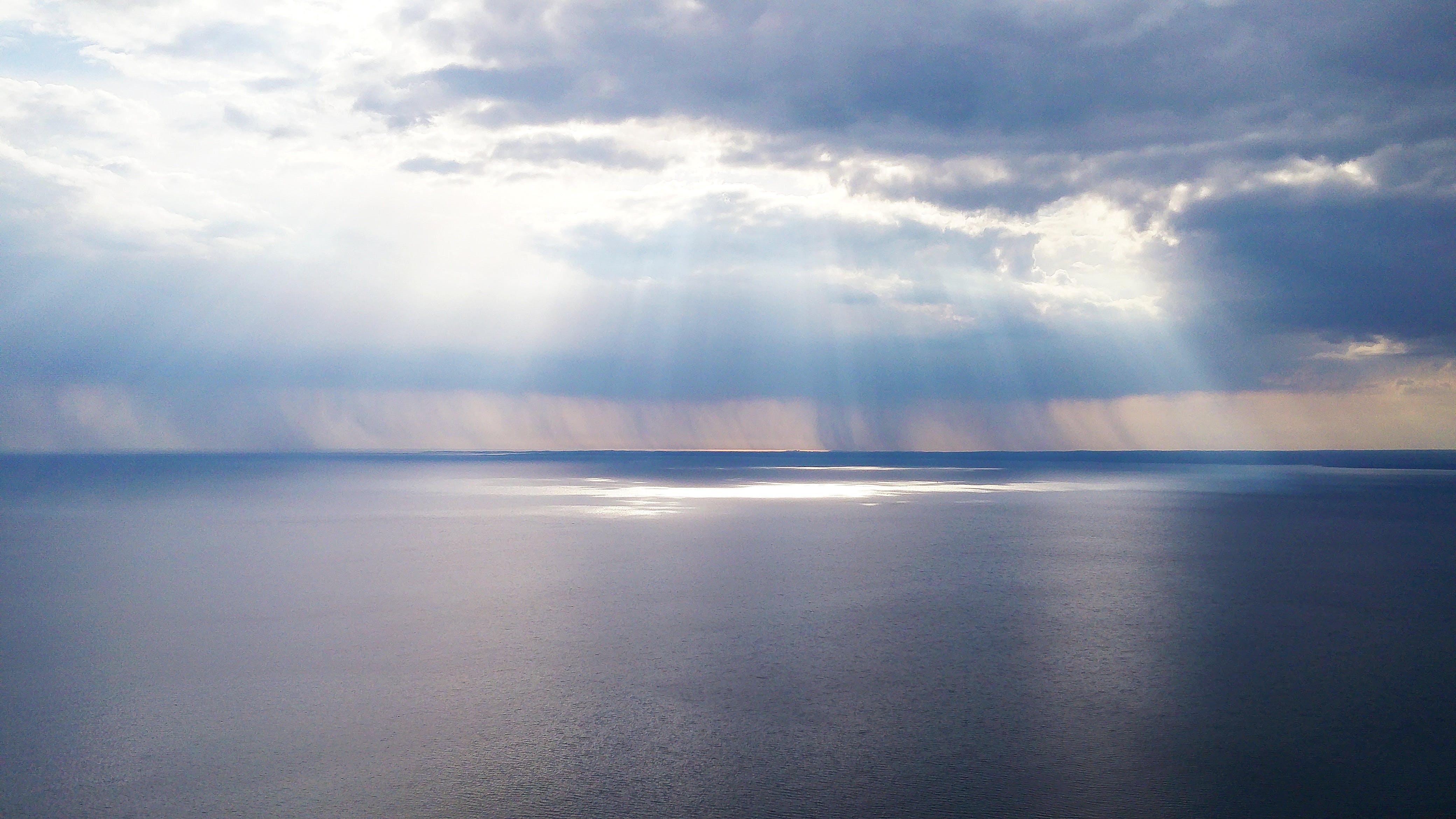 blue, calm, clouds