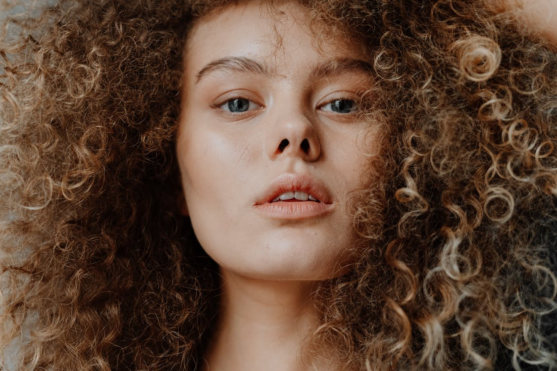Girl With Brown Curly Hair