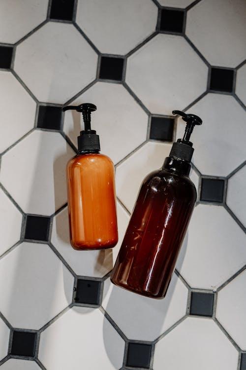 Orange and Black Pump Bottle