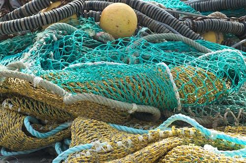 Photos gratuites de bateau, couleurs, filets de pêche, mailles de filet