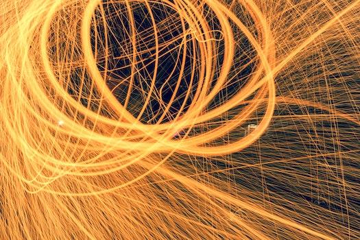 Free stock photo of light, fire, long-exposure, light streaks
