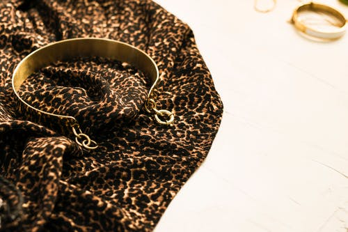Black and Brown Leopard Print Textile
