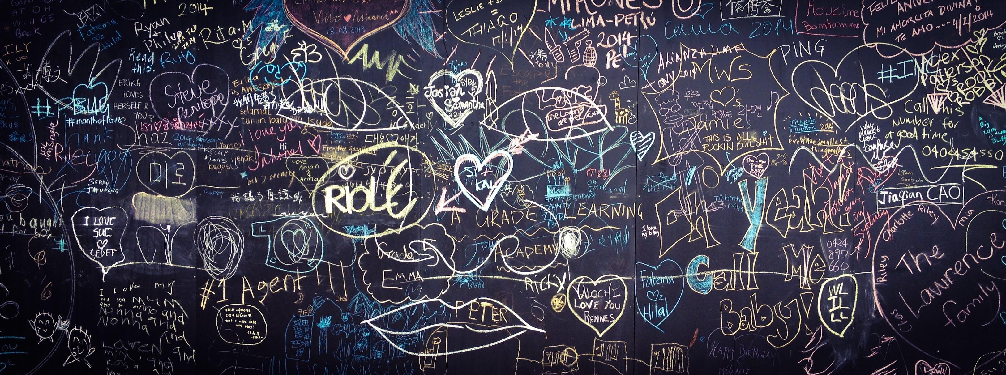 Free stock photo of love, heart, hand, graffiti