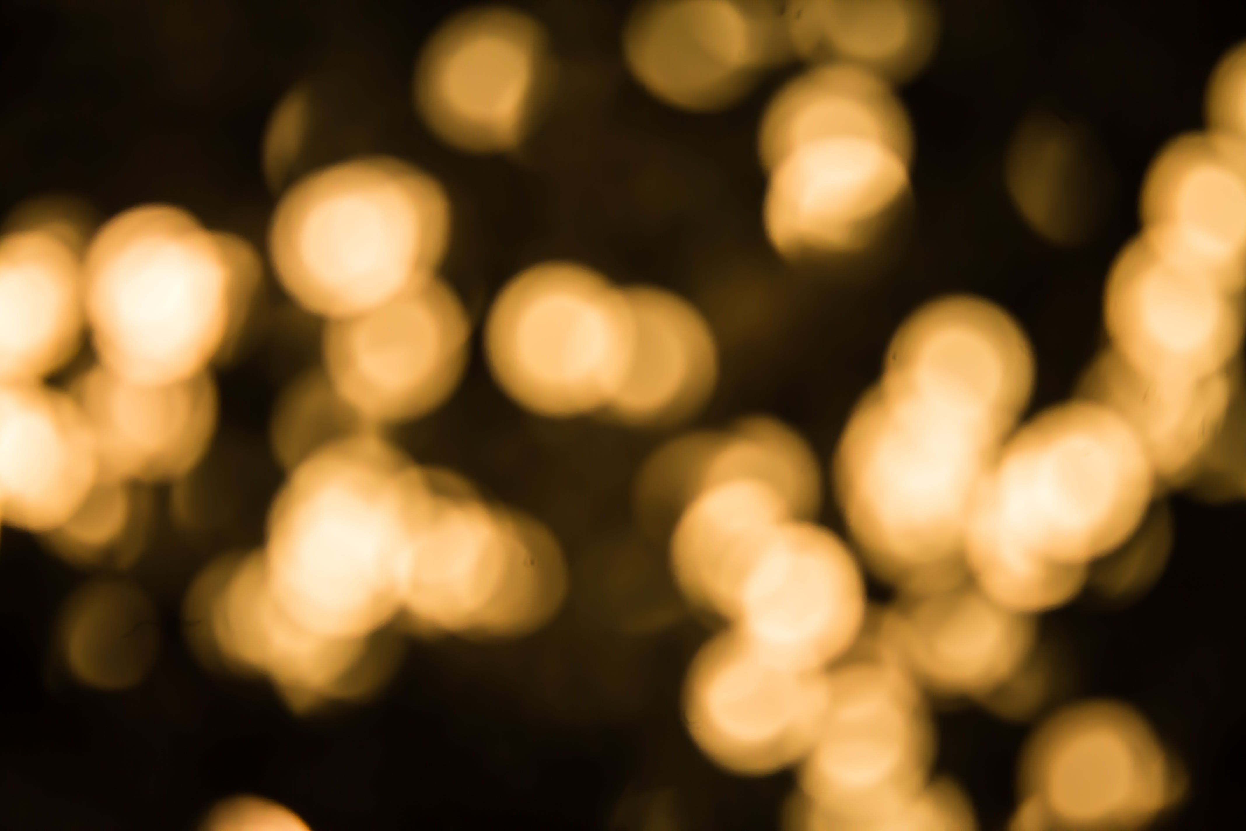 Yellow Bokeh Light