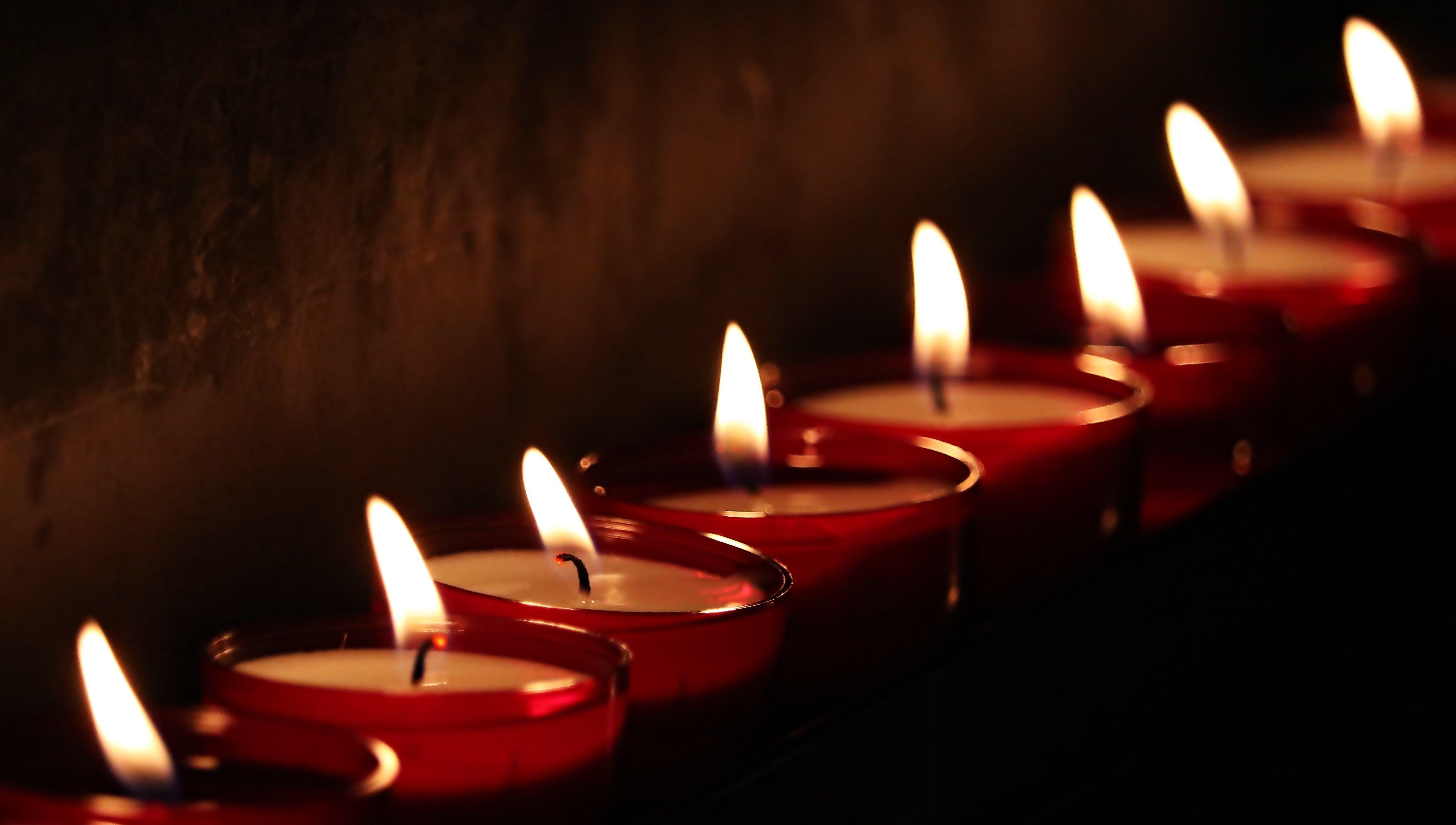 blur, burning, candlelight