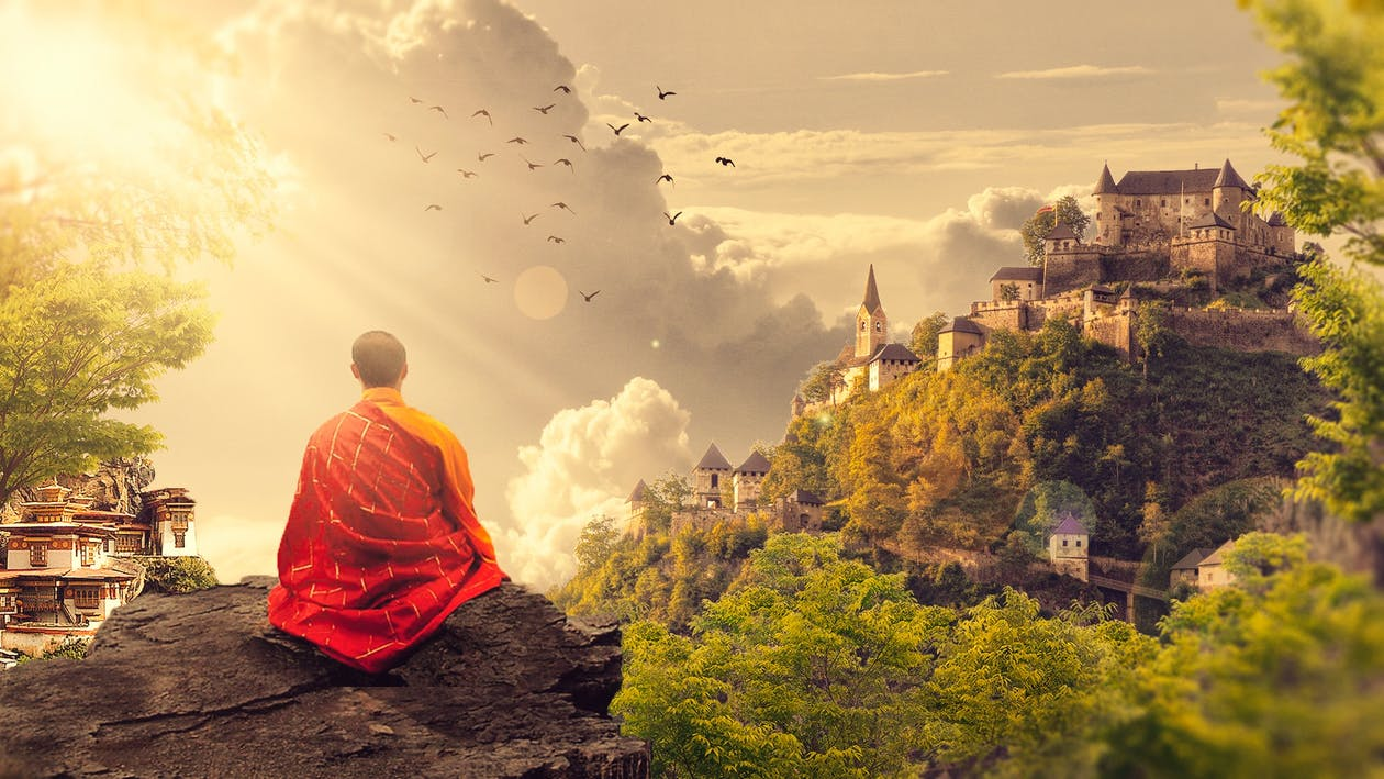Free stock photo of Buddhism, buddhist, digital art