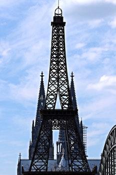 Free stock photo of sky, eiffel tower, landmark, clouds