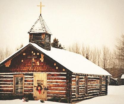 Free stock photo of cold, snow, wood, bricks