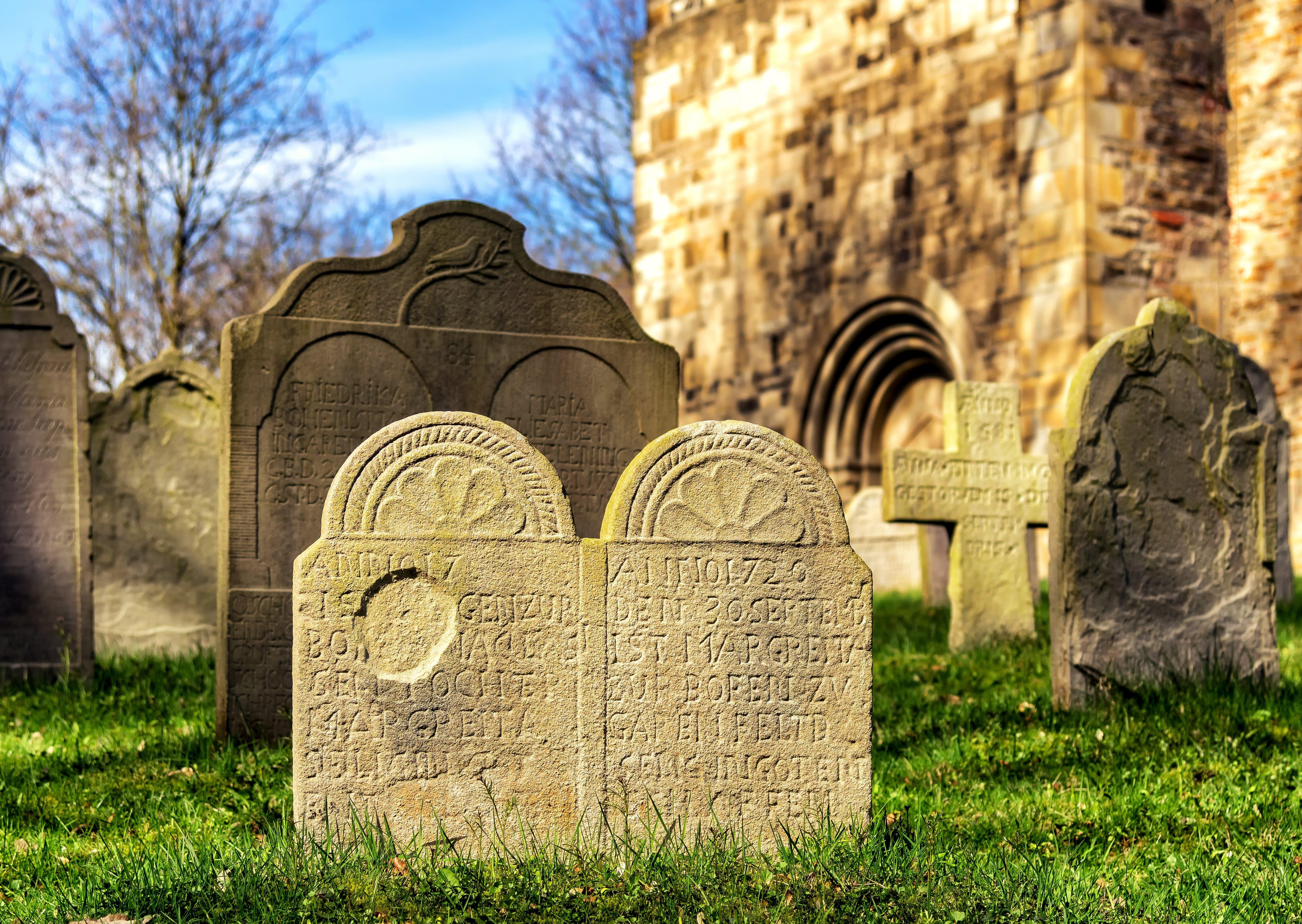 Gray Concrete Engrave Text Tomb