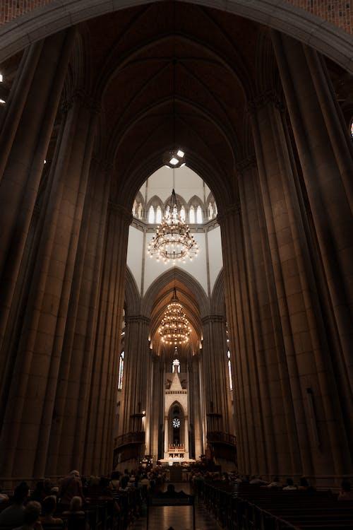 คลังภาพถ่ายฟรี ของ catedral da sé, se, กระจกสี, การท่องเที่ยว
