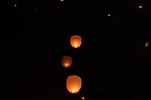 Free stock photo of lights, night, dark, blur