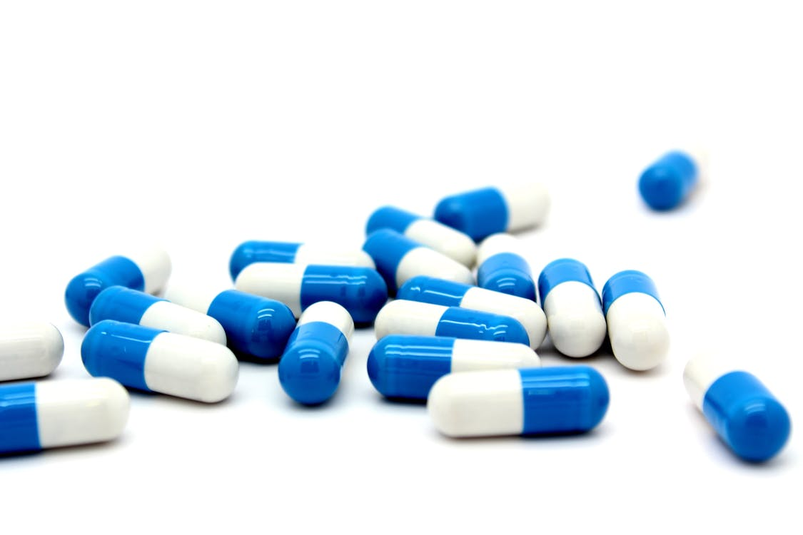 White and Blue Capsules
