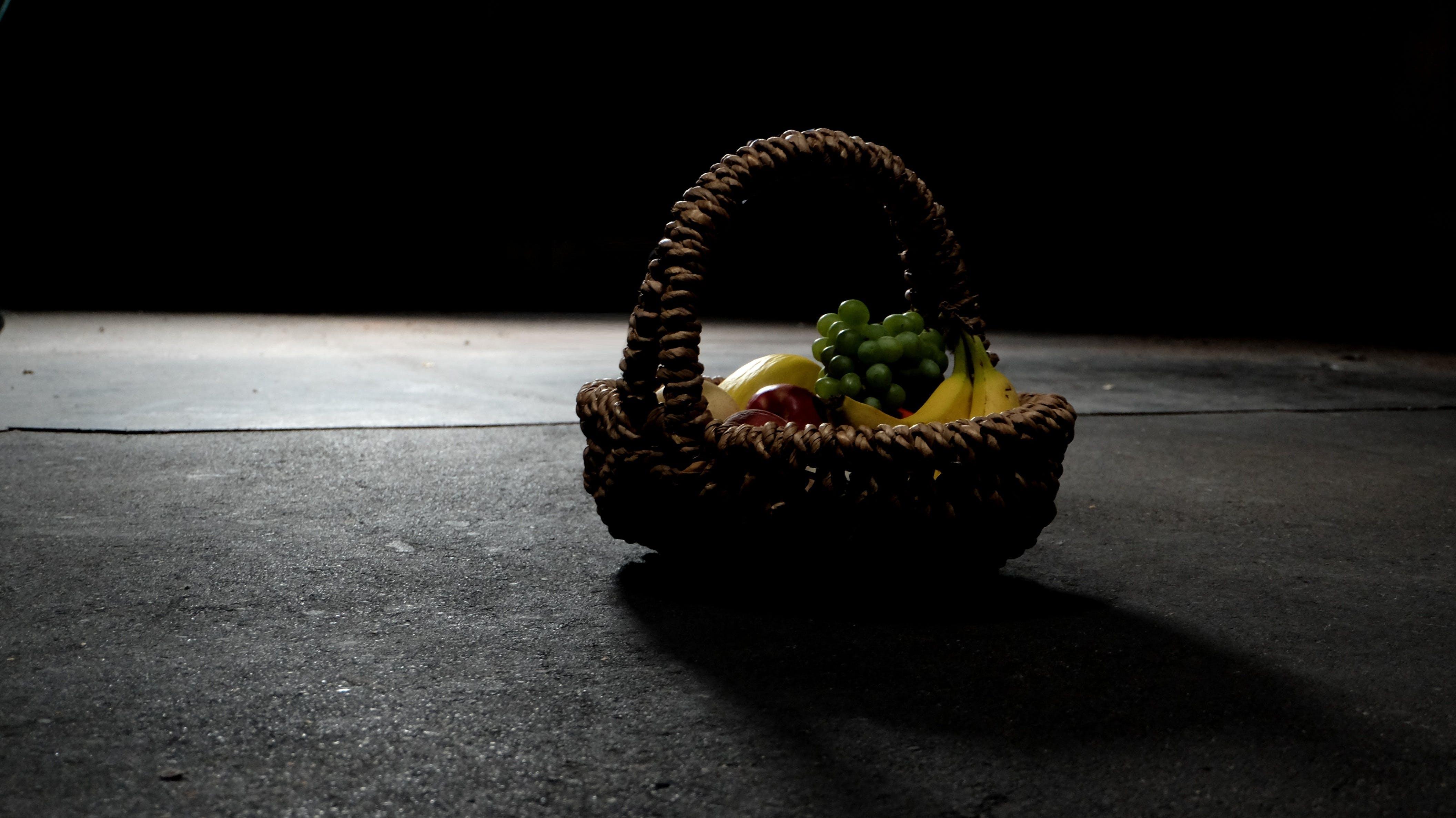 basket, color, dark