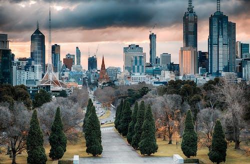 Бесплатное стоковое фото с автомобили, архитектура, башня, горизонт