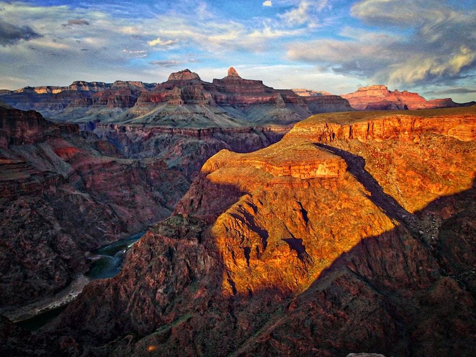 canyon, clouds, daylight