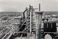 black-and-white, landmark, building