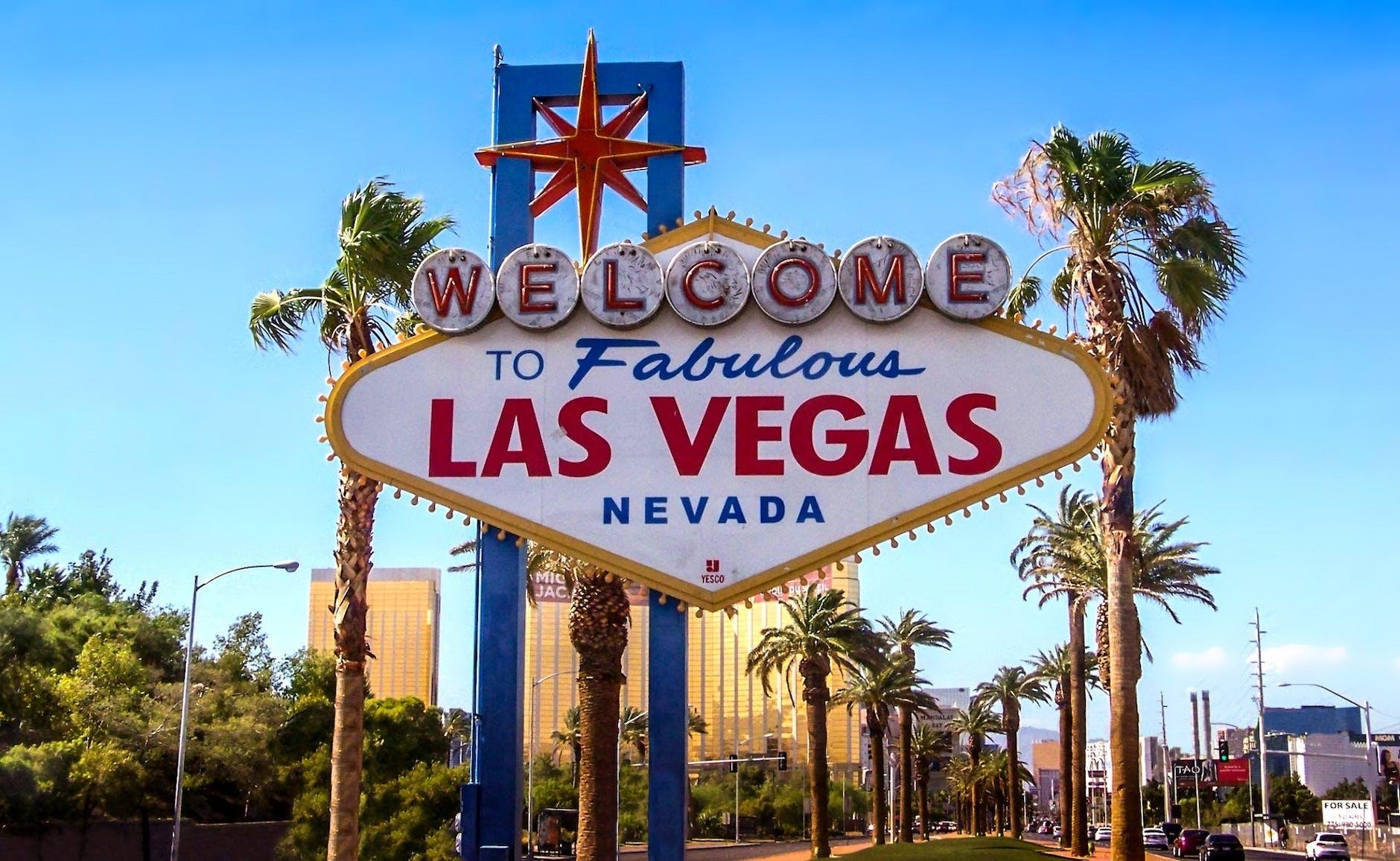 "Het befaamd ""Welcome to Fabulous Las Vegas"" billboard"