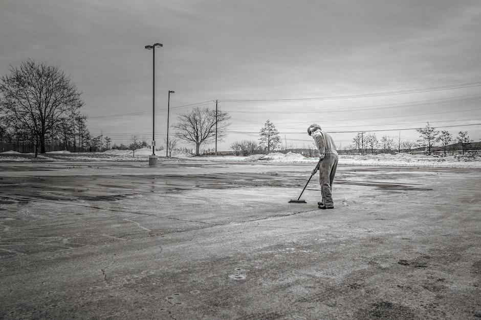 black-and-white, caretaker, clean