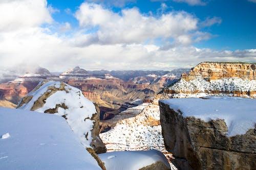 bakir bölge, bulutlar, büyük Kanyon, buz içeren Ücretsiz stok fotoğraf