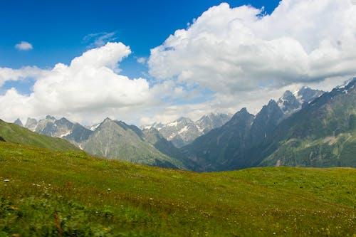 Бесплатное стоковое фото с белый, голубой, горный пик, горы