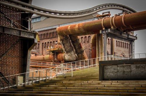 Foto stok gratis Arsitektur, arsitektur industri, baja, bangunan