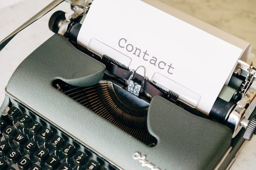 Close-Up Shot of a Typewriter